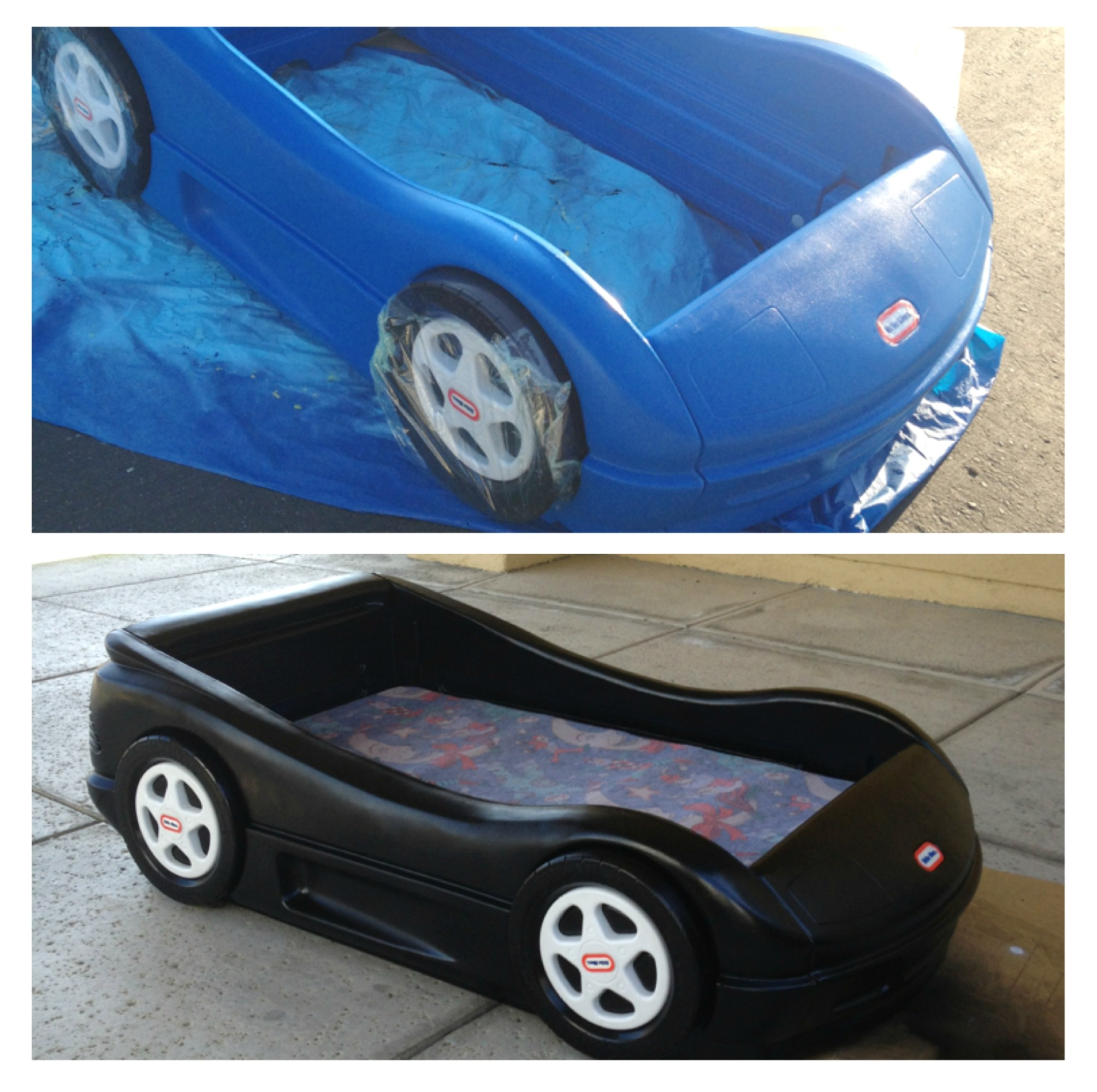 Blue car beds for kids - Picmonkey_blue Lt Car Transformation
