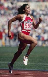 "Florence Griffith Joyner-Considered ""The Fastest Woman of All Time""."