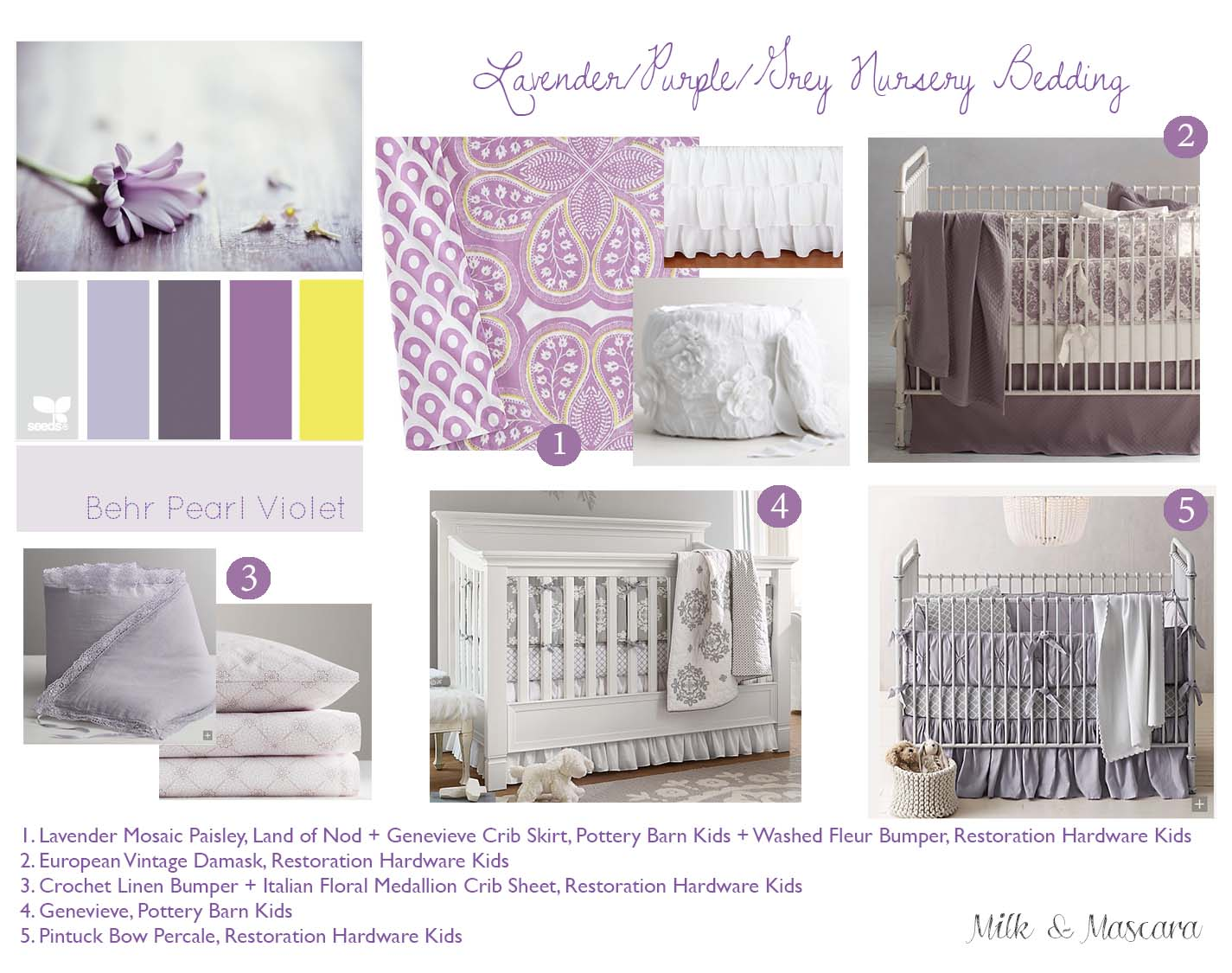 Quinn S Nursery Part 1 Lavender And Grey Bedding