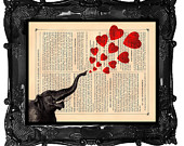 dictionary heart elephant