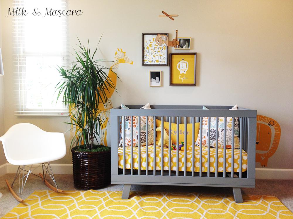 Nursery Inspiration Yellow Grey Amp Wood Safari