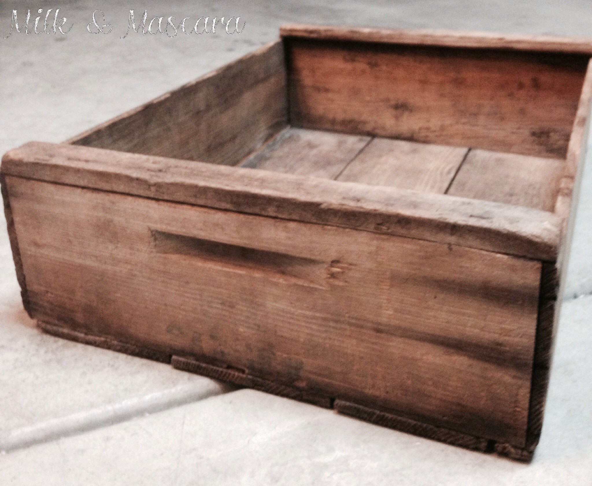 diy rustic wooden crate toy box