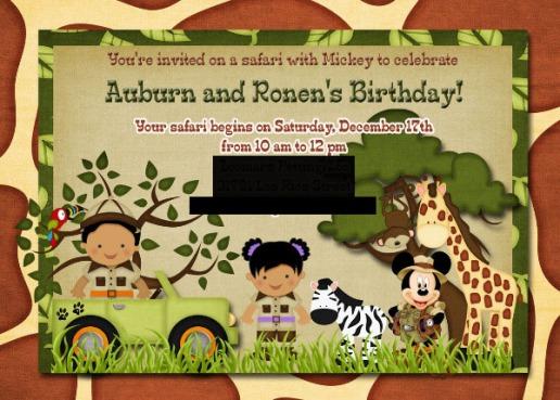 mickey mouse safari birthday party printables source list