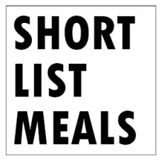 Short List Meals Logo