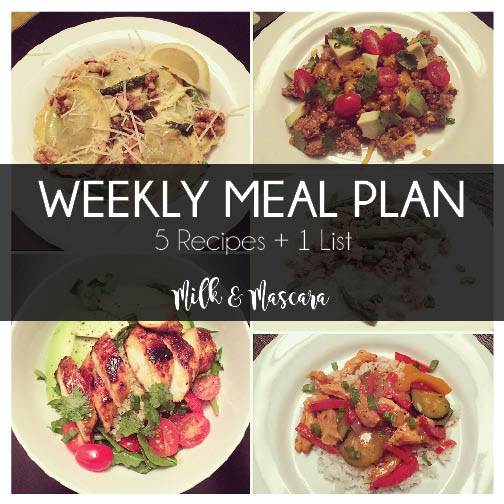 Weekly Meal Plan 5