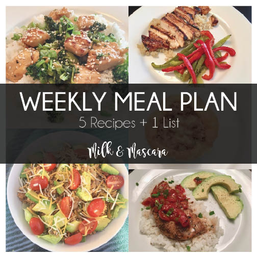 Weekly Meal Plan 11