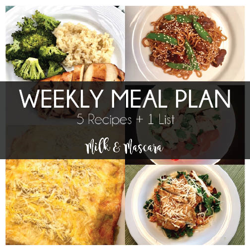 Weekly Meal Plan 12